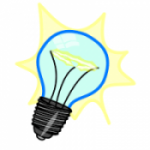 Electricity light bulb icon
