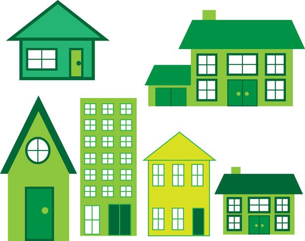 Green home energy concept